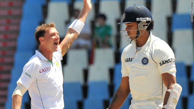 Dale Steyn, left, took seven wickets in the match as did fellow South Africa fast bowler Morne Morkel.