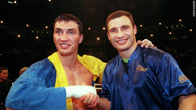 The Klitschko brothers Wladimir and Vitali hold four of the five versions of the world heavyweight titles.