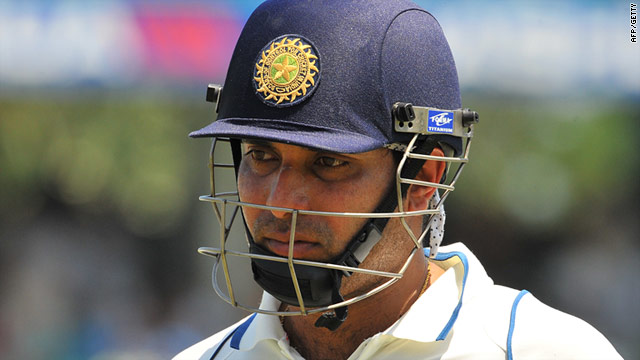 Laxman fell four short of a deserved century but his innings put India in command.