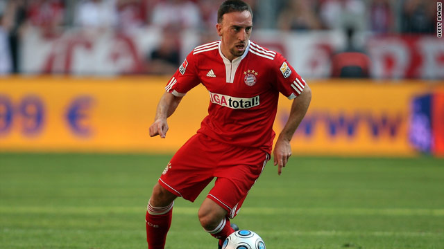 Ribery has had a wretched time with injuries at Bayern Munich this season.