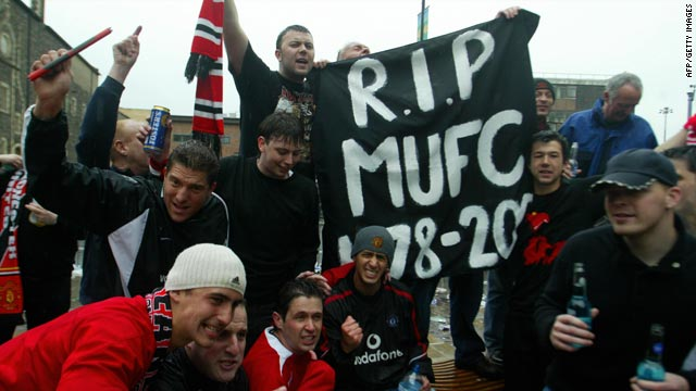 Manchester United fans feared that the 2005 takeover by the Glazer family would financially ruin the English club.