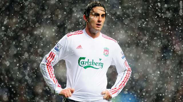 Liverpool's Alberto Aquilani has been deprived of experiencing more delightful British weather this weekend.