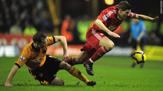 Liverpool captain Steven Gerrard was back in action but unable to prevent his side from drawing 0-0 with Wolves on Tuesday.