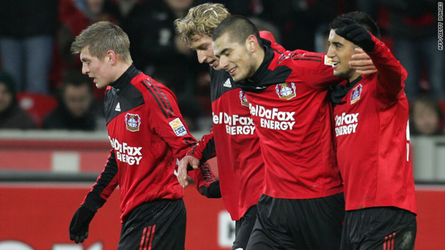 Bayer Leverkusen remain unbeaten as they returned to the top of the German Bundesliga table on Sunday.
