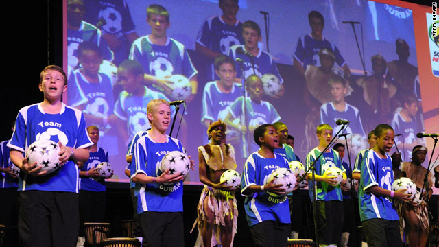 Members of the Drakensberg Boys' Choir perform at the 100 Day Banquet in Durban.