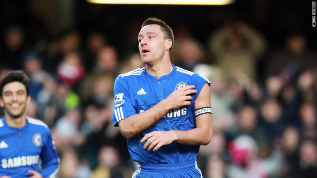 John Terry scored the second goal for Chelsea in their 2-0 FA Cup victory over Stoke City.