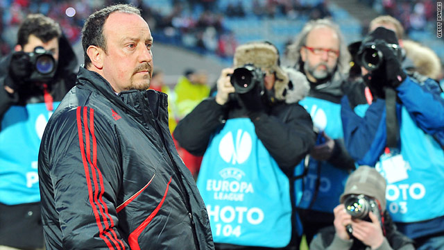 Liverpool manager Rafael Benitez couldn't stop his team losing 1-0 to French side Lille.