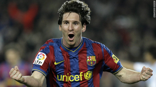 Lionel Messi was in sensational form on Sunday, scoring a hat-trick in Barcelona's 3-0 victory over Valencia.