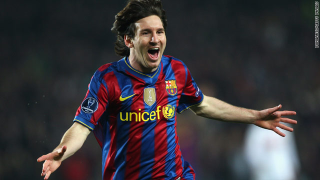 Barcelona's talisman Lionel Messi took his season's tally to 31 goals with a brace against Stuttgart.