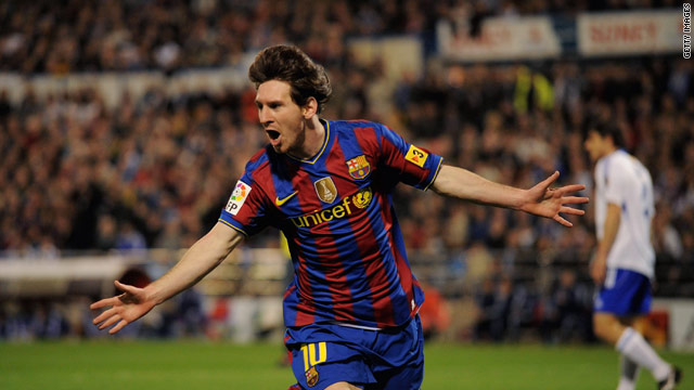Messi has been running riot in the past week with eight goals and two hat-tricks.