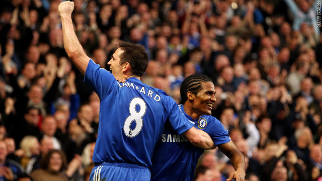 Frank Lampard, left, and Florent Malouda scored six of Chelsea's seven goals against Villa between them.