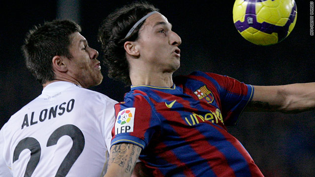 November's matchwinner Zlatan Ibrahimovic, right, will miss Saturday's clash but Xabi Alonso, left, returns for Real.