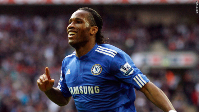 Didier Drogba's opening goal at Wembley set Chelsea on the way to the FA Cup final.