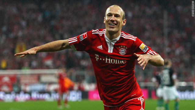 Arjen Robben proved the match-winner once again as Bayern Munich took a narrow Champions League advantage.