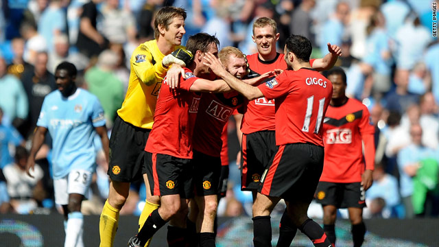 Manchester United are chasing a fourth successive Premier League title.