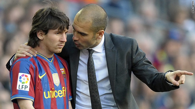 Barca coach Pep Guardiola will be looking to Lionel Messi in the Champions League return against Inter.