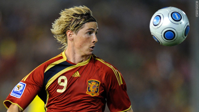Striker Fernando Torres may not be fit for Spain's opening game of the World Cup against Switzerland on June 16.