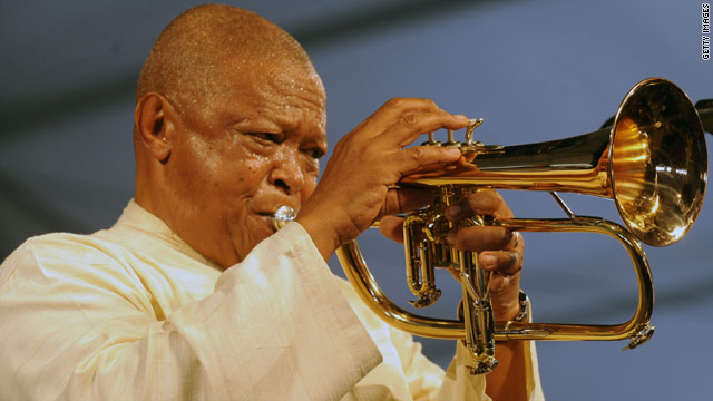 Veteran jazz trumpeter Hugh Masekela has been added to the bill at the World Cup launch concert on June 10.