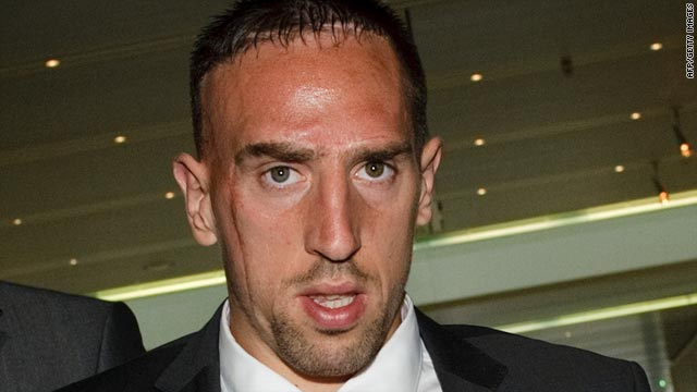 Franck Ribery leaves UEFA headquarters in Nyon after losing his appeal against a three-match European ban.