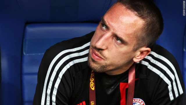 Suspension meant Ribery could only sit and watch as Bayern Munich lost to Inter Milan in the Champions League final.