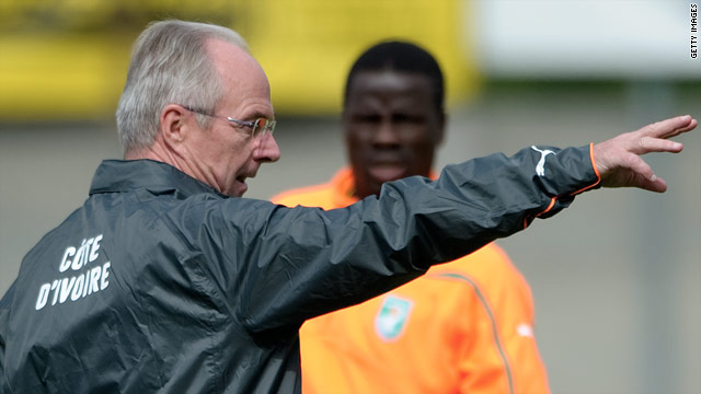 Coach Sven Goran Eriksson has selected an attacking Ivory Coast squad for the World Cup, complete with six strikers.