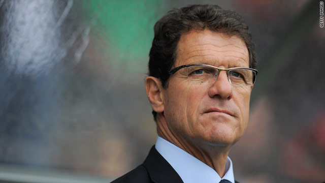 Fabio Capello watches on as his team score an unconvincing win over Japan in Graz.