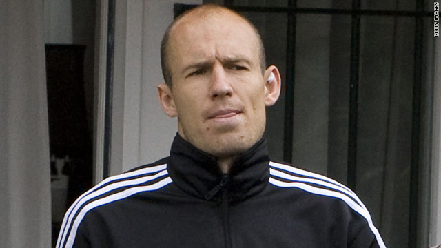 Arjen Robben leaves a session with his physical therapist in Rotterdam as he continues his rehabilitation from injury.