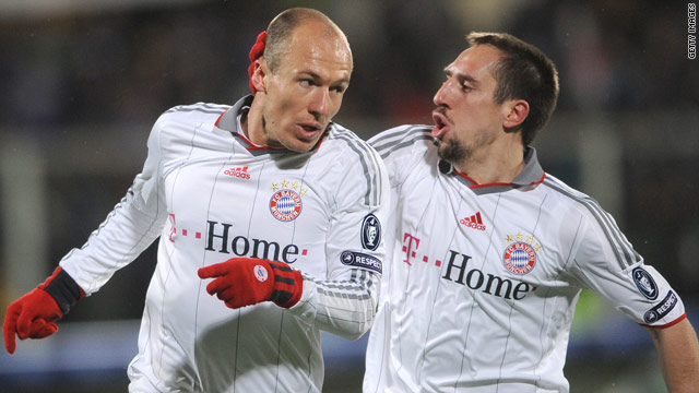 Bayern Munich stars Arjen Robben and Franck Ribery have helped boost the German Bundesliga's popularity.