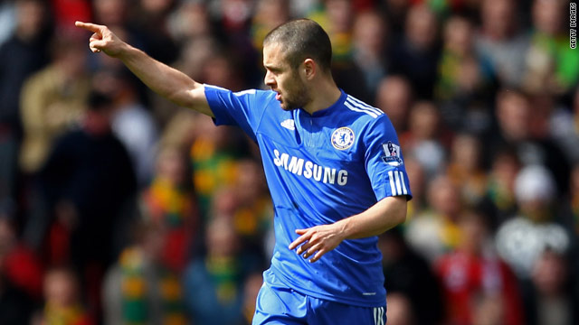 Joe Cole celebrates his goal against Manchester United at Old Trafford this season.