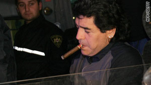 Diego Maradona: The cigar-chomping footballer-turned-manager of Argentina is considered a god in his country.