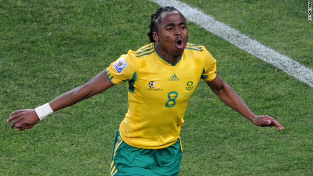 Siphiwe Tshabalala's stunning strike put hosts South Africa ahead in the World Cup opener.