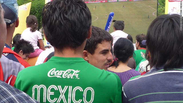Fans in Guadalajara also watched the game against South Africa on outside big screens.