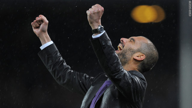 Guardiola has steered Barcelona to two Spanish league titles and one Champions League trophy.