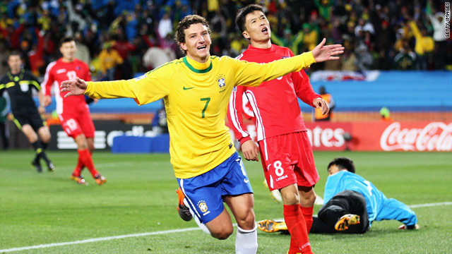 Elano's goal ensured Brazil went top of Group G, ahead of rivals Portugal and Ivory Coast.