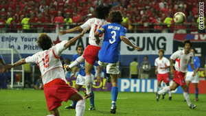 Italy lost in 2002 to a golden goal scored by South Korea's Ahn Jung-Hwan.