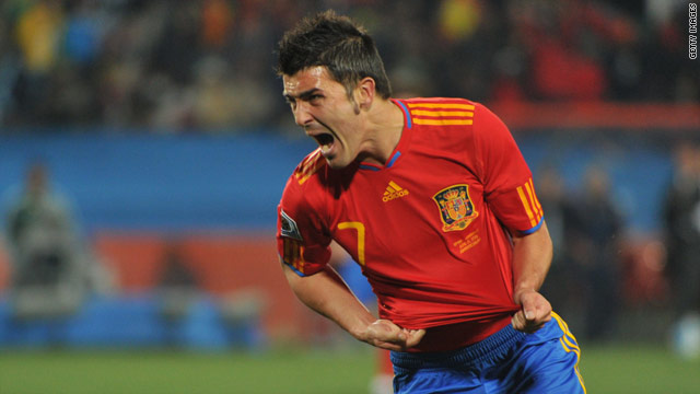 Villa helped reignite Spain's World Cup campaign with two goals in Johannesburg.