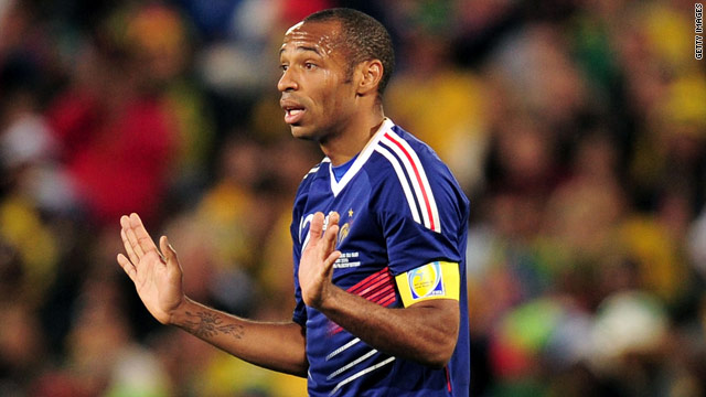 Thierry Henry, once France's main striker, was reduced to a minor role at the World Cup in South Africa.