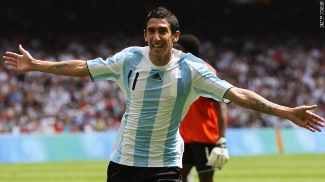 Madrid-bound Angel di Maria is currently on international duty with Argentina at the 2010 World Cup in South Africa.