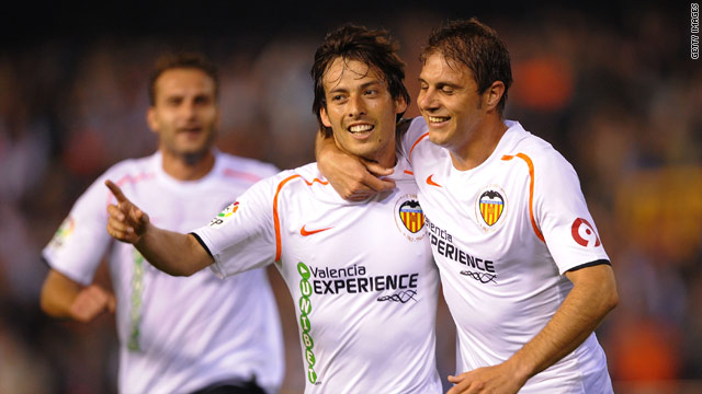 Spain's David Silva (left) will become a Manchester City player once he returns from the World Cup in South Africa.