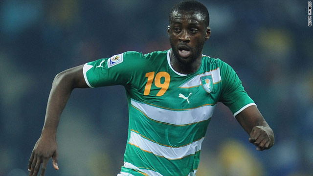 Yaya Toure was an integral part of the Ivory Coast team that played at the World Cup.