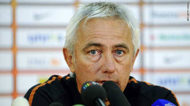 Coach Bert van Marwijk hopes to guide the Dutch to a third World Cup final in South Africa.
