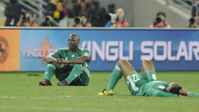 Nigeria's soccer team failed to make it past Group B at this year's World Cup in South Africa.