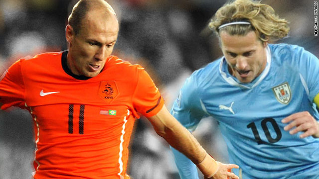 Arjen Robben of the Netherlands and Uruguay captain Diego Forlan were two key players in the World Cup semifinal.