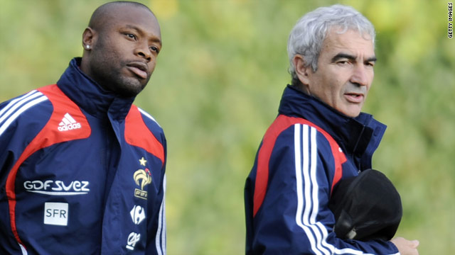 William Gallas, left, claims that former France coach Raymond Domenech did not listen to his players.