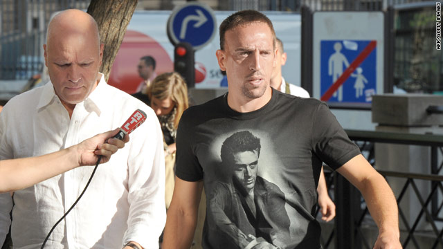 French star Franck Ribery was questioned Tuesday in connection with an alleged underage prostitution ring.