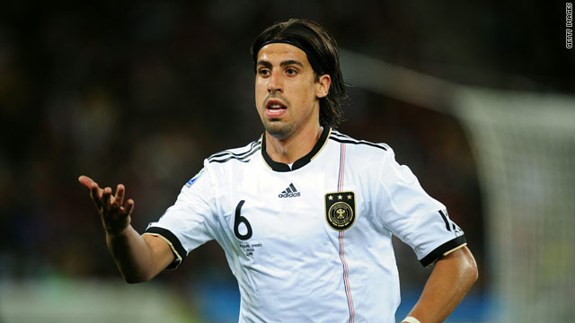 Sami Khedira starred for Germany in the World Cup finals.