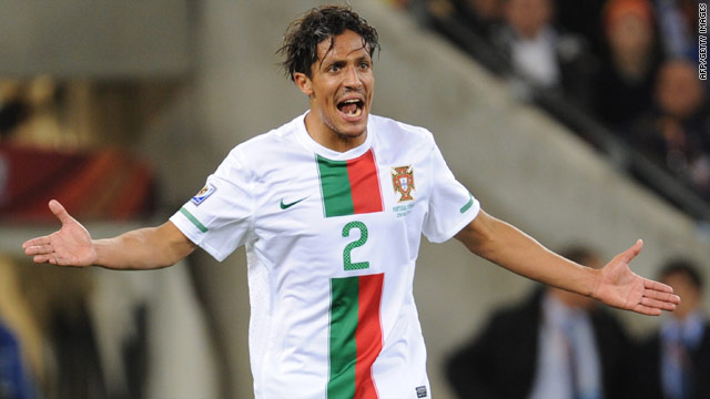 Bruno Alves played in all four of Portugal's matches at the 2010 World Cup in South Africa.