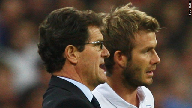 Fabio Capello had previously dropped David Beckham while coach of Real Madrid in the 2006-07 season.