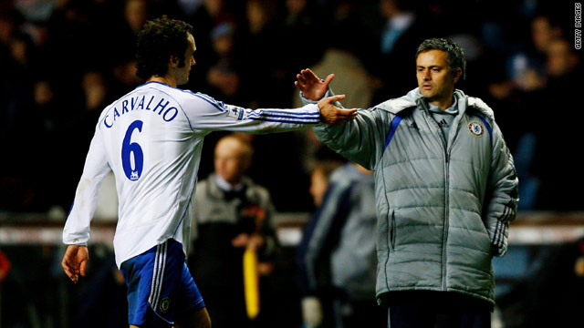 Ricardo Carvalho's (left) move to Spanish side Real Madrid has reunited him with former coach Jose Mourinho (right).
