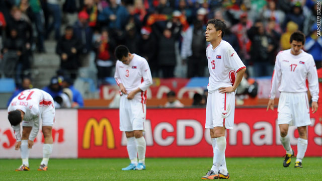 North Korea's players suffered an embarrassing 7-0 defeat by Portugal at the World Cup in South Africa in June.